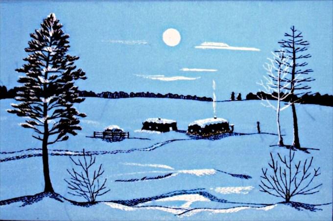 One handed Artist. Margarita Spirova. Yakutia, Siberia.