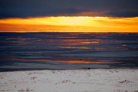 Sunrise at Bering Sea. Chukotka. Photo  © 2013 Galya Morrell