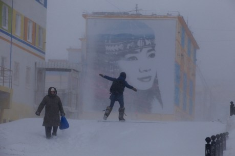 Blizzard in Anadyr. Photo © Galya Morrell