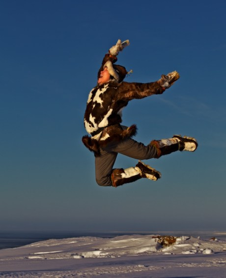 Vlad Rintytegin, the Flying Man. Chukotka. Photo © Galya Morrell