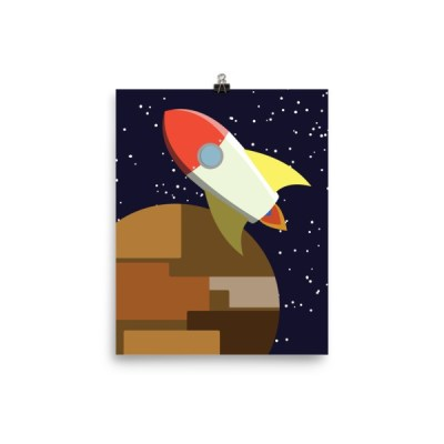 rocket -or- build a rocket ship and we'll fly it far away Poster