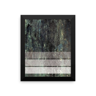 Three Strip Grunge Framed poster