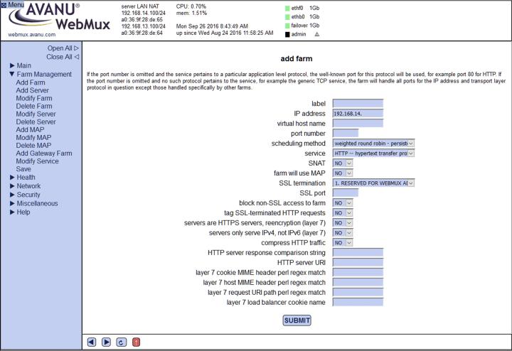 avanu webmux server arm setup