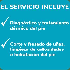 Quiropodología - Servicios Incluidos