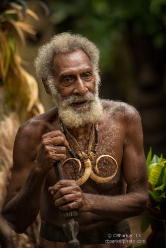Rom Dancer with Boar's Tusk Necklace - Fanla Village, Ambrym Isl