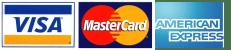 Visa, Mastercard, American Express Accepted