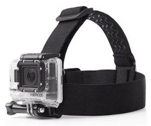 The helmet strap is a useful way to wear your GoPro Hero - but make sure it is securely connected to your helmet! GoPro Hero Review