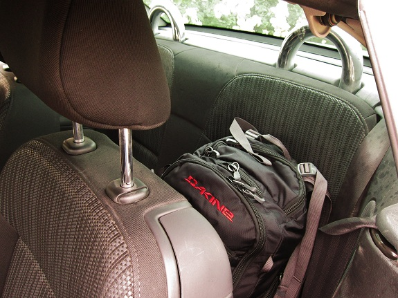 Peugeot 207cc back seat space