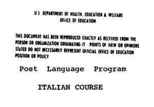 US FSI Italian Course