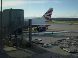 British Airways 747 at YVR