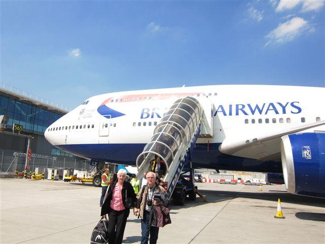 British Airways 747-400 at Heathrow Terminal 5