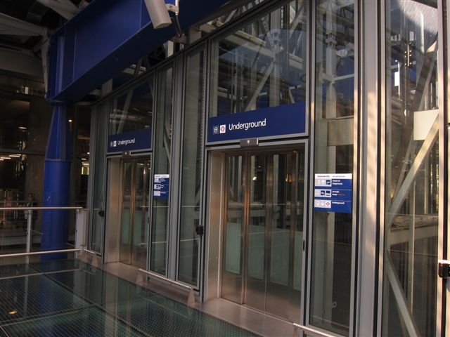 Elevators to the Tube from Heathrow Terminal 5
