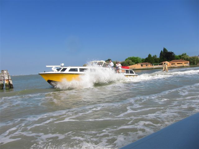 An Alilaguna boat from Marco Polo airport to Venice