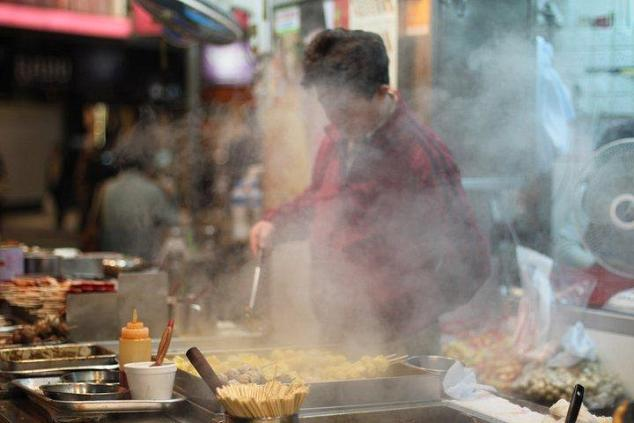 Street Food Vendor in Causeway Bay Hong Kong