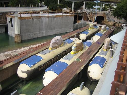 1996 Disneyland Submarine Renovation - Submarines