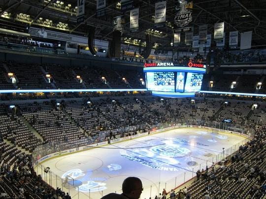 Inside Rogers Arena Before Game 7