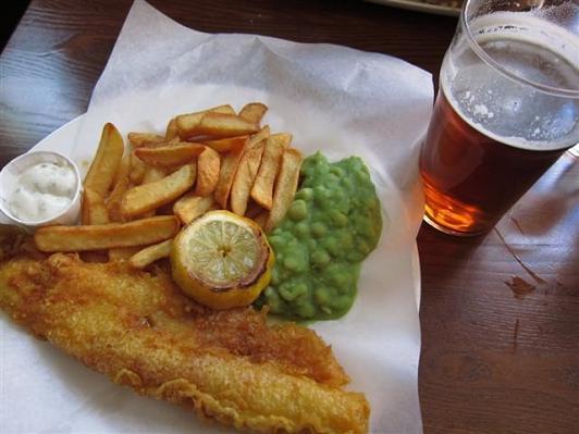Fish n Chips in London UK