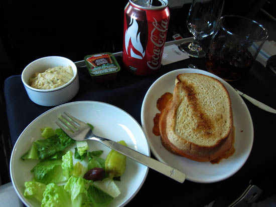 American Airlines Business Class Cheese Sandwich