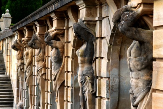 Blenheim Palace Oxford England Statues