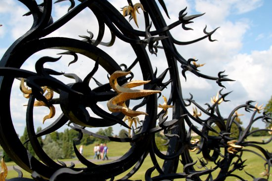 Blenheim Palace Oxford England Barbed Fence