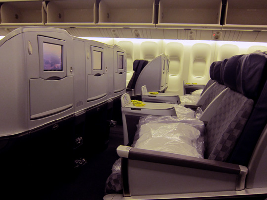 American Airlines 777-200ER Business Class Seats