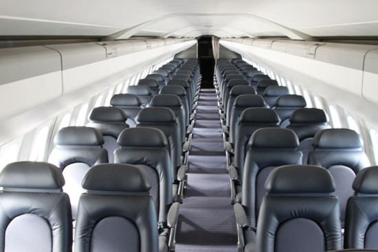 Passenger Compartment of Concorde G-BOAG Museum of Flight