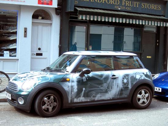 Foxton Mini Cooper X-Ray Paint Job