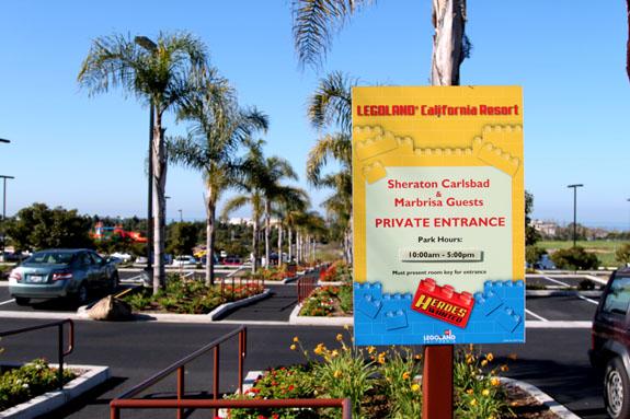 Legoland California Sheraton Private Entrance