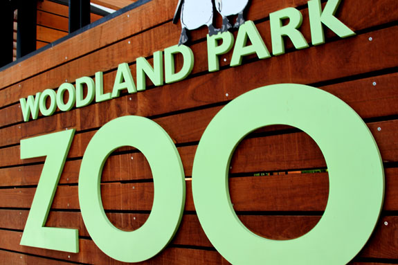 Woodland Park Zoo Sign Seattle Washington