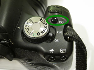 Canon T1i ISO Button