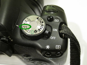 Canon T1i Shutter Speed Priority Mode