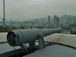 Disappearing Gun at Hong Kong Museum of Coastal Defence
