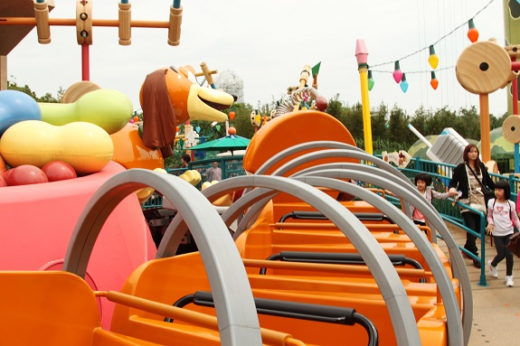 Toy Story Land Slinky Dog Spin at Hong Kong Disneyland