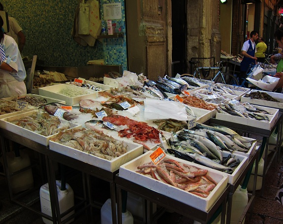 Fish for sale in Bologna Italy