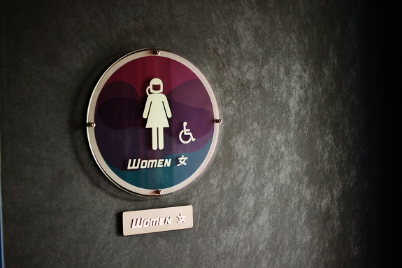 Ladies Sign for Hong Kong Disneyland Tomorrowland Restroom