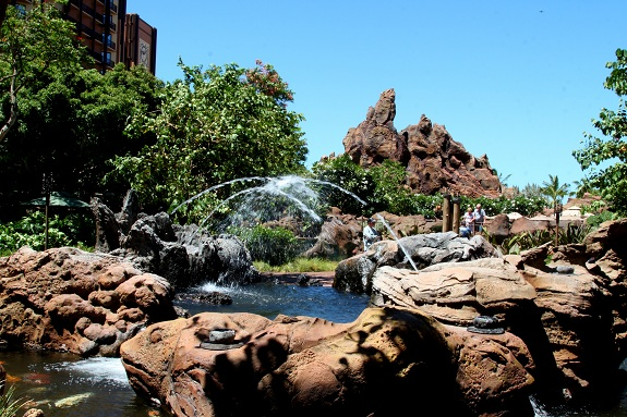 Water Feature at Disney's Aulani Resort in Hawaii