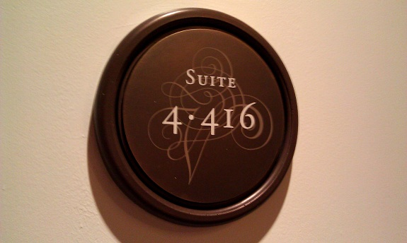 Room Sign at Las Vegas Venetian Hotel