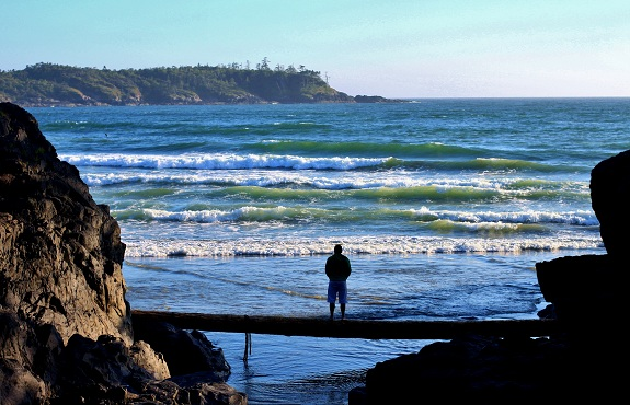 Overlooking the Waves in Tofino British Columbia