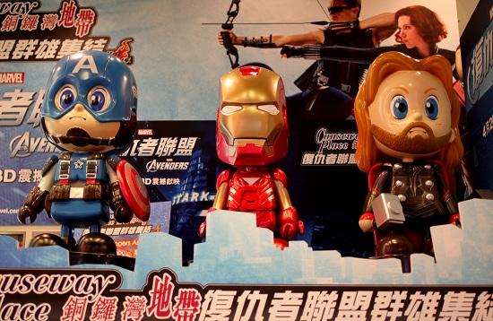 Avengers Statues in Causeway Bay Hong Kong