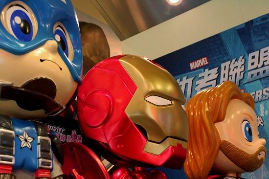 Avengers Statuettes in Causeway Bay Hong Kong