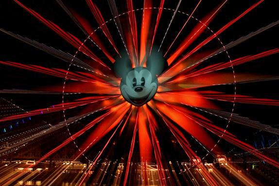 Mickey's Fun Wheel Zoom Effect at Disney California Adventures