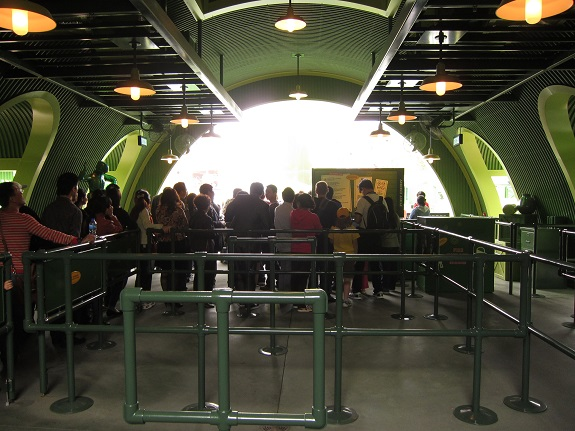 Toy Soldier Ride Queue at Hong Kong Disneyland