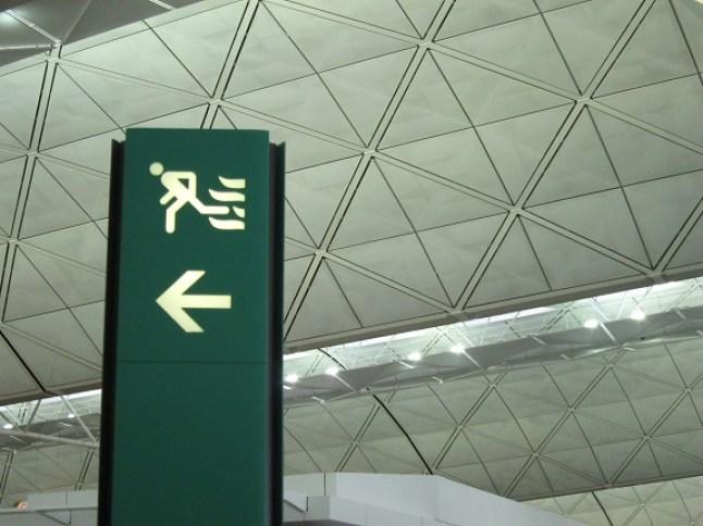 HKG Fire Escape Sign
