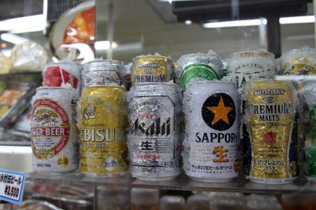 Plastic Beer at Kappabashi Market Tokyo