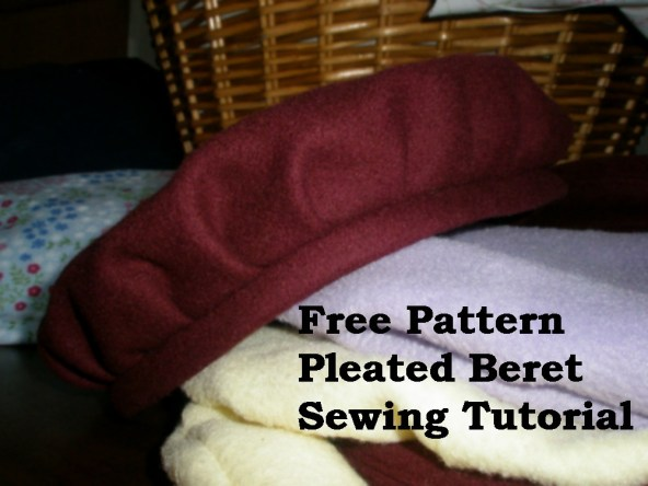 Free Pattern and Tutorial for Pleated Beret Hat