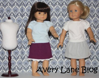 Repupose :pants to doll skirt : Avery Lane Sewing Blogs