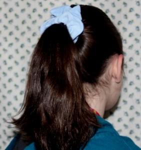 Hair scrunchie tutorial on Avery Lane Blog