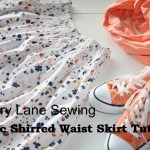 Shirred Waist Skirt Tutorial (for doll, too)