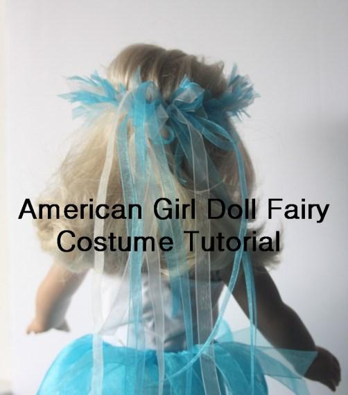 Faerie costume for AG dolls tutorial for kids to make