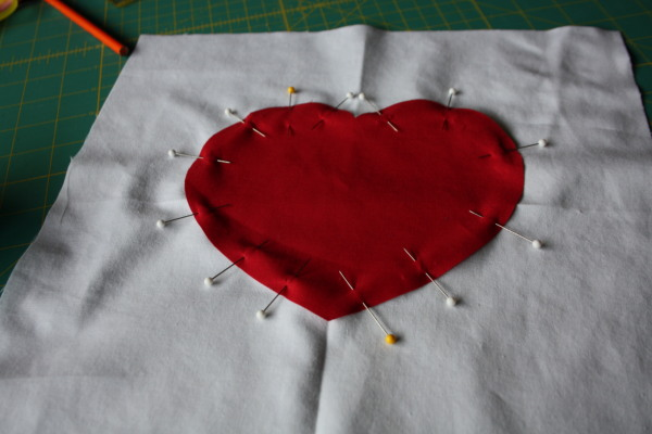 Faux Chenille Valentine Heart Pillow Sewing Tutorial on AveryLaneSewing.com  3